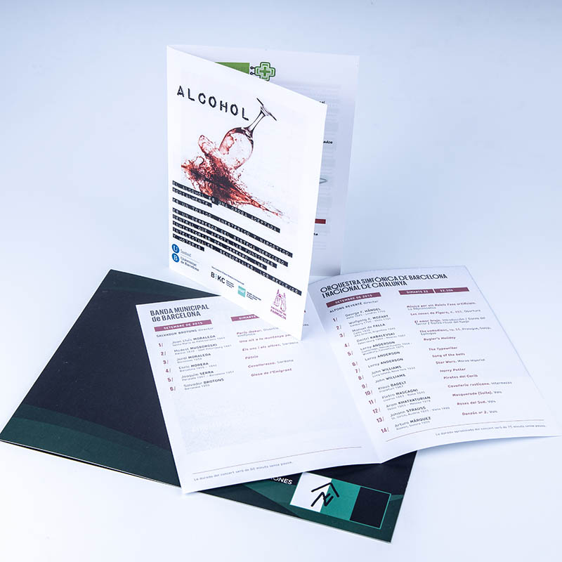 Leaflets, brochures and flyers